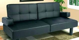 faux leather futon mainstays sofa bed couch couches for with cup holders remarkable on