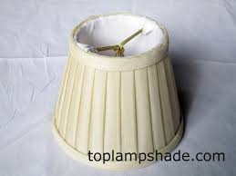 fabric side pleated chandelier shade