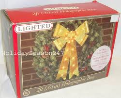 Lighted Holiday Bow 2ft Lighted Holographic Yellow Bow Christmas Holiday Outdoor Wedding Decoration