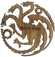 Game Of Thrones Stark House Crest Wooden Plaque Game of Thrones House Targaryen Fire and Blood Wooden Three 21