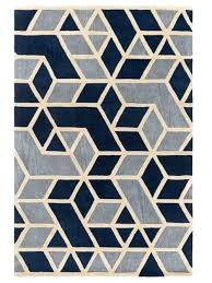 navy geometric rug rhombus geometric rug in navy blue grey and bone yarn loom rugs large navy geometric rug