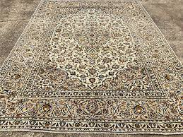 8x11 antique persian rug neutral beige cream hand knotted wool area rugs 8x10 ft