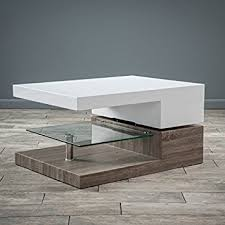 com emerson rectangular mod swivel coffee table w glass intended for plan 1