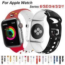 Dây Đeo Silicon Cho Đồng Hồ Thông Minh Apple Watch Series 6 / 5 / 4 / 3 / 2  / 1 / Se Kích Thước 38mm 42mm 40mm 44mm tại Nước ngoài