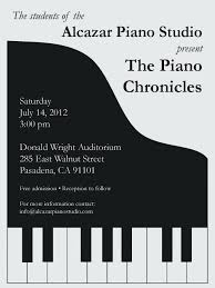 Concert Flyer Template For Word Images Music Lesson Flyer Template Piano Recital Invitation Stuff I
