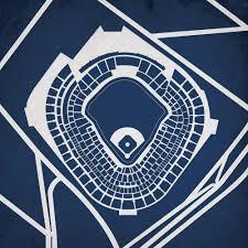 Yankee Stadium Map Art