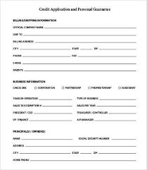 Business Credit Check Form Savebtsaco Credit Check Application Form