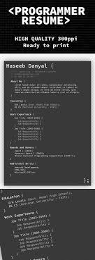 cv resume templates psd mockups bies graphic programmer professional resume template