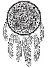 Small Picture Dream Catcher Printable Coloring Page Adult by MoonDrawArts Art