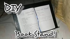 diy book stand using recyclable materials