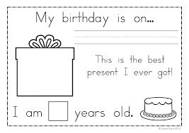 Birthday Language Arts Kindergartenets Common Core Pdf ...