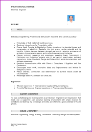 Electrical Engineer Resume Word Format Unique Electrician Resume