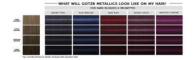 Shades Of Purple Hair Dye Chart Got2b Metallic Permanent Hair Color M69 Amethyst Chrome