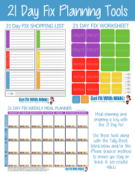 21 Day Fix Meal Chart 21 Day Fix Meal Planning Tips My Favorite Foods