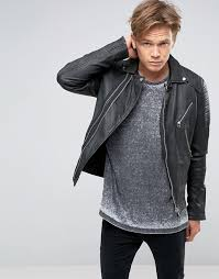 mens leather biker jacket mens biker asymmetrical black jacket