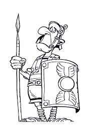 Romeinse Soldaat Kleurplaat Asterix Obelix