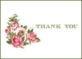 Printable Thank You Cards Vintage Flowers Printable Thank You Cards