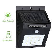 Solar Powered PIR LED Wall Light 799 Online Shopping GearBestcomSolar Led Wall Lights