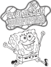 Small Picture Spongebob Printable Coloring Pages Archives Inside Free Printable