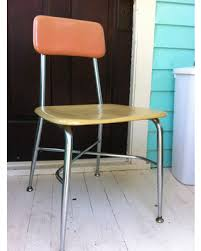 vintage school chairs. Modren Vintage Heywood Wakefield Desk Chairs HeyWoodite School Vintage Chrome And  Plastic Industrial Classic And Vintage School Chairs D