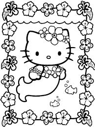 25 Bladeren Kleurplaat Hello Kitty Zeemeermin Mandala Kleurplaat