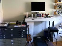 Standing Office Desk Ikea Ikea Hack Standing Desk Treadmill Office