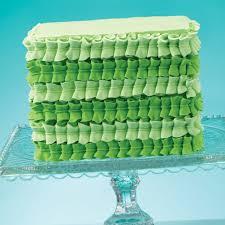 Green Leaf Tip Square Cake Wilton
