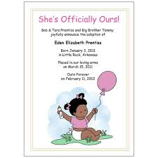 Announcement For Baby Girl Adoption Announcements Baby Girl With Balloons Mandys Moon