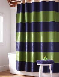 image of blue and lime green shower curtain