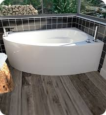 neptune 115516 5 wind wi60d 60 customizable corner bathtub with tiling and