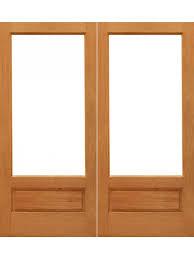 1 lite p b interior brazilian mahogany 1 panel ig glass double door by aaw interior