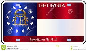 Georgia License Plates Designs Georgia License Plate Flag Stock Vector Illustration Of