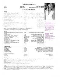 talent resume format audition resume format theater audition audition resume format