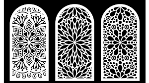 cool decorative screens panels laser cut dxf file free