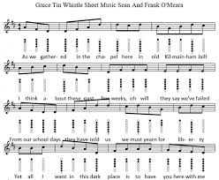 Bagpipe Grace Note Chart Grace Tin Whistle Notes And Sheet Music Irish Folk Songs