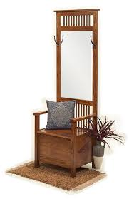 hall entryway furniture. Amish Mission Entryway Storage Bench With Mirror Just The Right Size For A Petite Foyer Or Hallway. Hall Furniture S