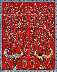 ceramic tile art patterns. Plain Ceramic Red_backsplash_birds Ceramic Tiles Eastern Mughal Style In Ceramic Tile Art Patterns E