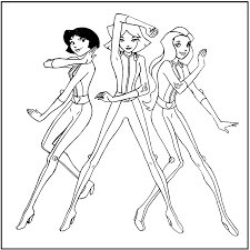 Totally Spies Coloring Pages 30 Colors Of Pictures