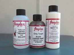 gather your materials leather paint prep and finisher