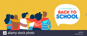 Welcome Back To School Web Banner Illustration Of Diverse