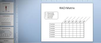 Six Sigma Raci Chart Raci Matrix In Powerpoint 2010 Using Tables Shapes