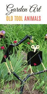 wonderful garden art animals created from old tools