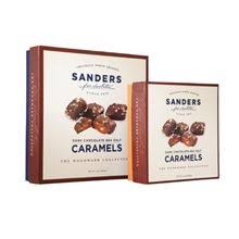 sanders new sea salt caramels are a ideal sweet salty deal with for anyone our sanders unique recipe caramel is enrobed in our premium dark chocolate