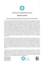 FIRMATO L'ACCORDO PER PASSAGGIO 5.107 DIPENDENTI UBI DA INTESA A BPER