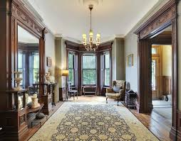 stained wood trim victorian brownstone
