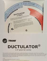 Acca Friction Rate Reference Chart Trane Ductulator