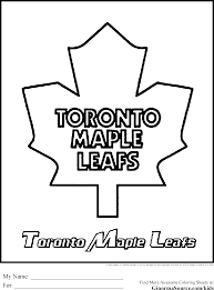 Small Picture Toronto Maple Leafs Coloring Pages Kids Coloring europe travel