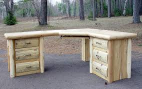 timber office desks. White Cedar Log Desk Timber Office Desks