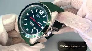 men s green lacoste seattle silicone strap watch 2010663 men s green lacoste seattle silicone strap watch 2010663