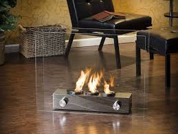 Modern Fire Space Indoor Glass Steel Freestanding Vent-free Ethanol Burning  Bio-Fireplace